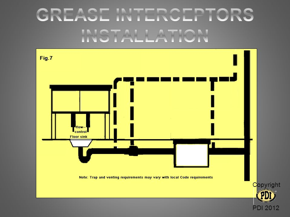 GREASE INTERCEPTORS INSTALLATION
