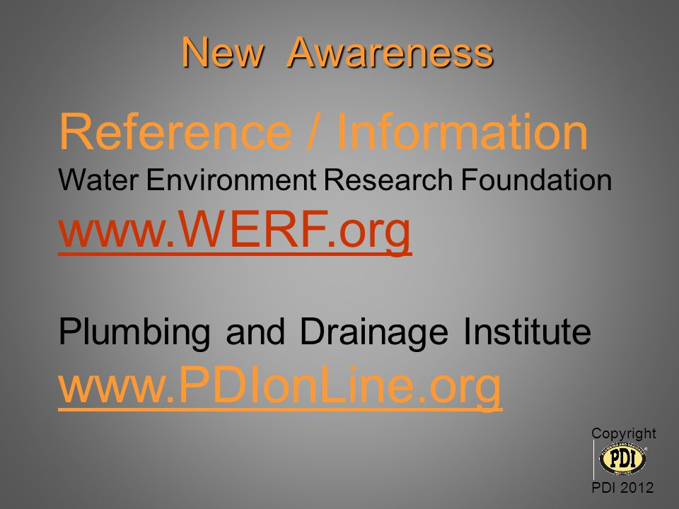 Reference / Information www.WERF.org