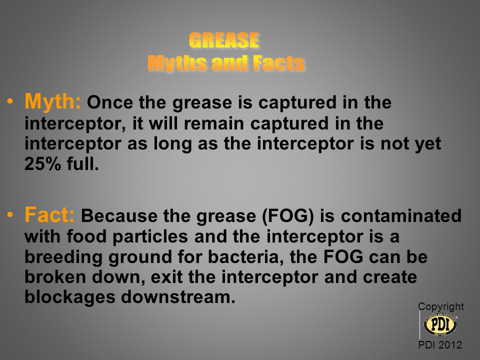 GREASE Myths and Facts.