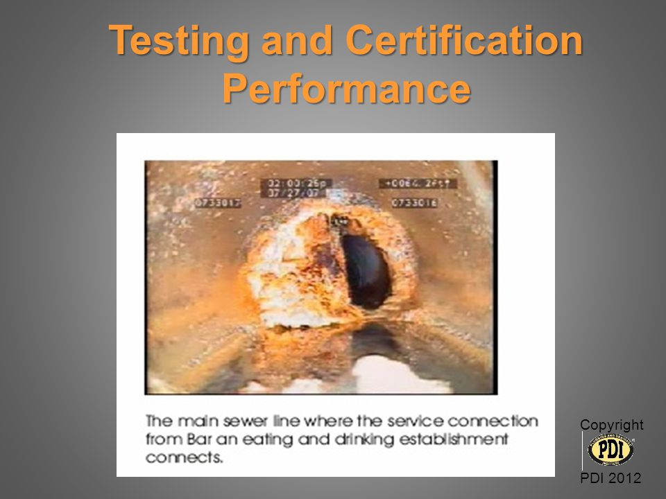 Testing and Certification Performance