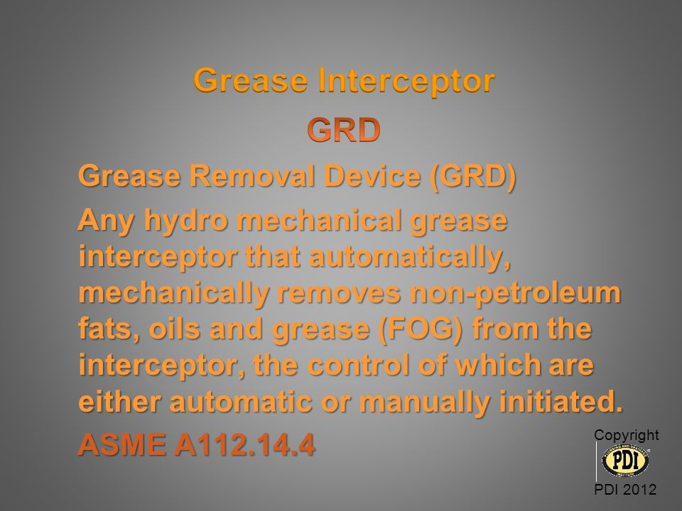 Grease Interceptor GRD