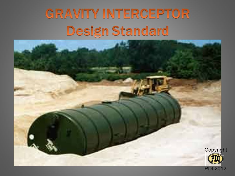 GRAVITY INTERCEPTOR Design Standard