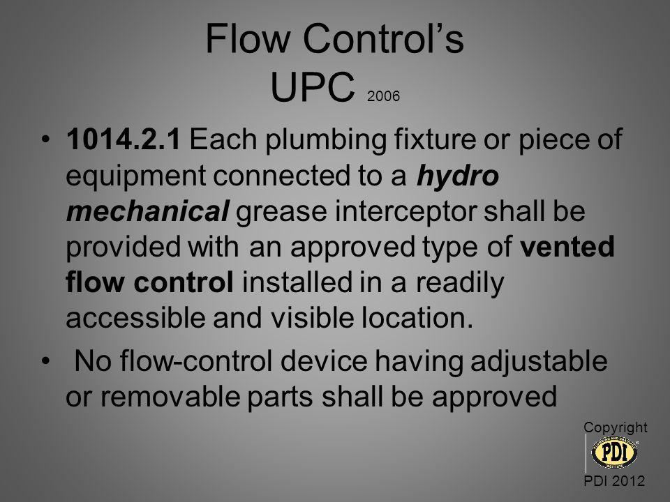 Flow Control's UPC 2006