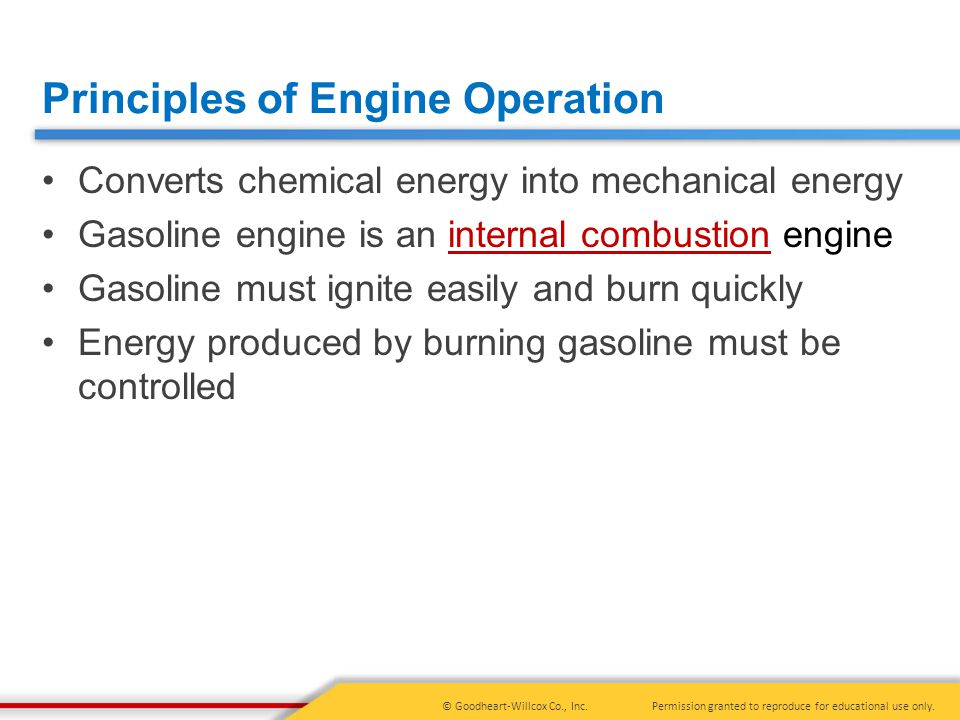 Principles of Engine Operation