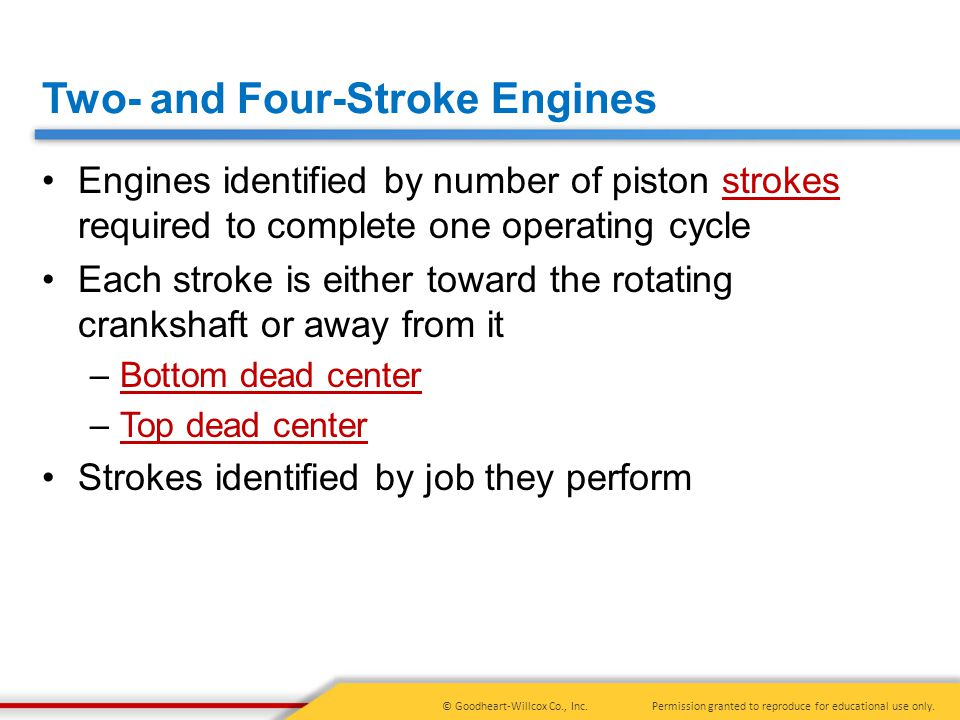 Two- and Four-Stroke Engines