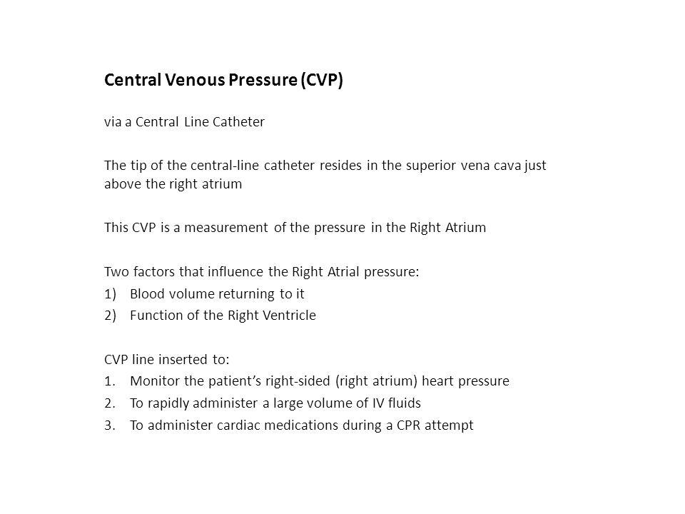 Central Venous Pressure (CVP)