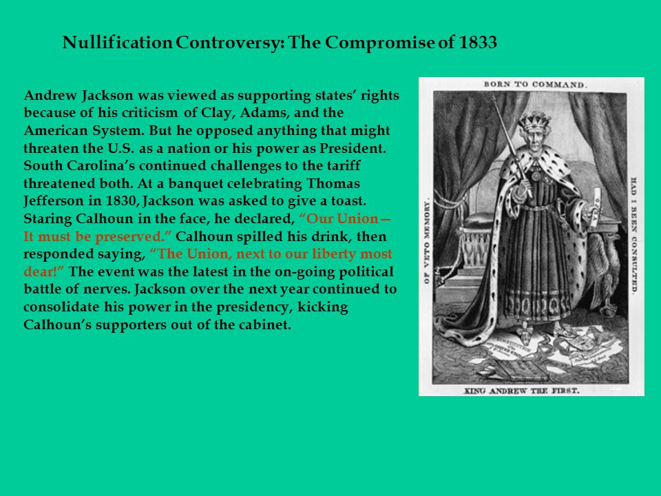 Nullification Controversy: The Compromise of 1833