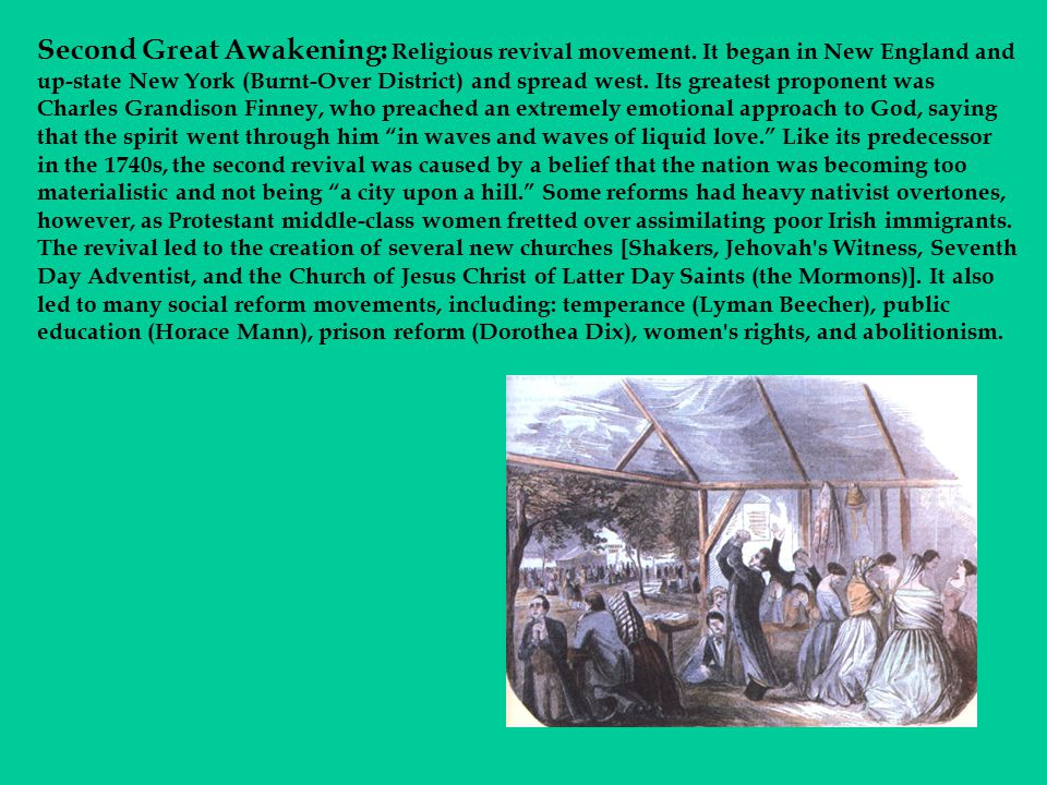Second Great Awakening: Religious revival movement