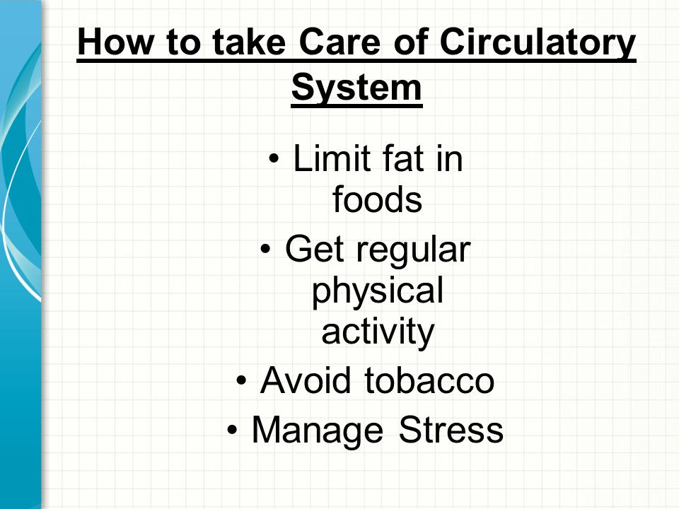 How to take Care of Circulatory System