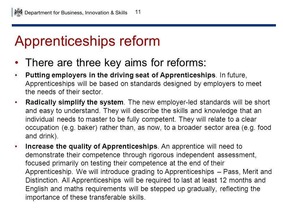 Apprenticeships reform
