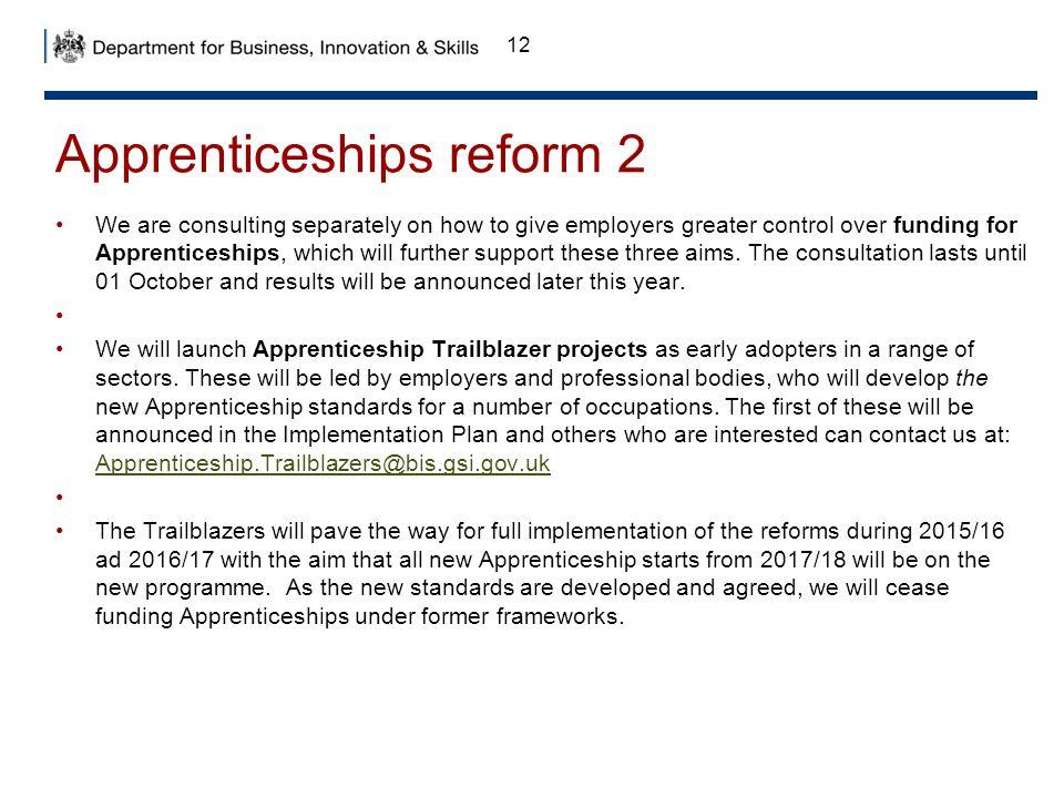 Apprenticeships reform 2