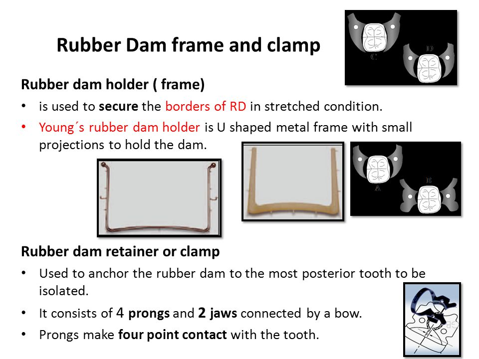 Rubber Dam frame and clamp