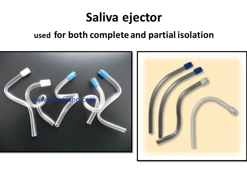 Saliva ejector used for both complete and partial isolation
