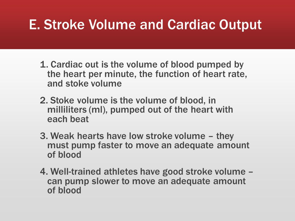 E. Stroke Volume and Cardiac Output