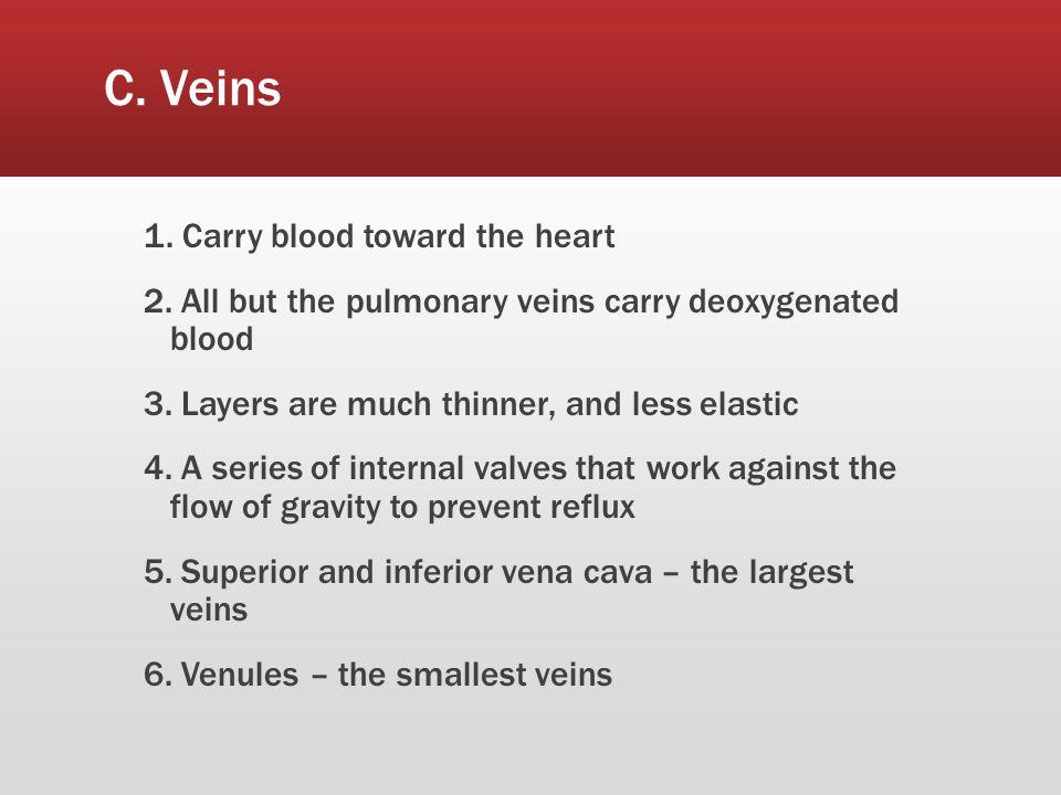 C. Veins