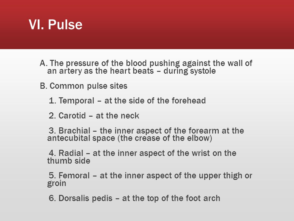 VI. Pulse