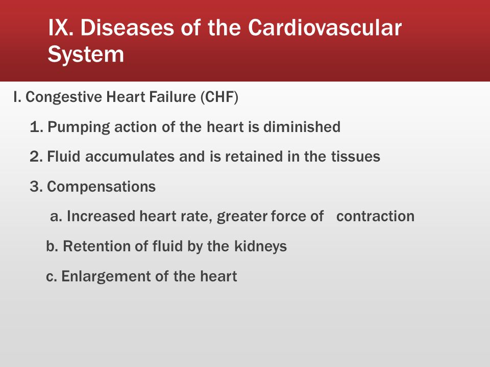 IX. Diseases of the Cardiovascular System