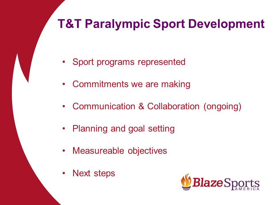 T&T Paralympic Sport Development