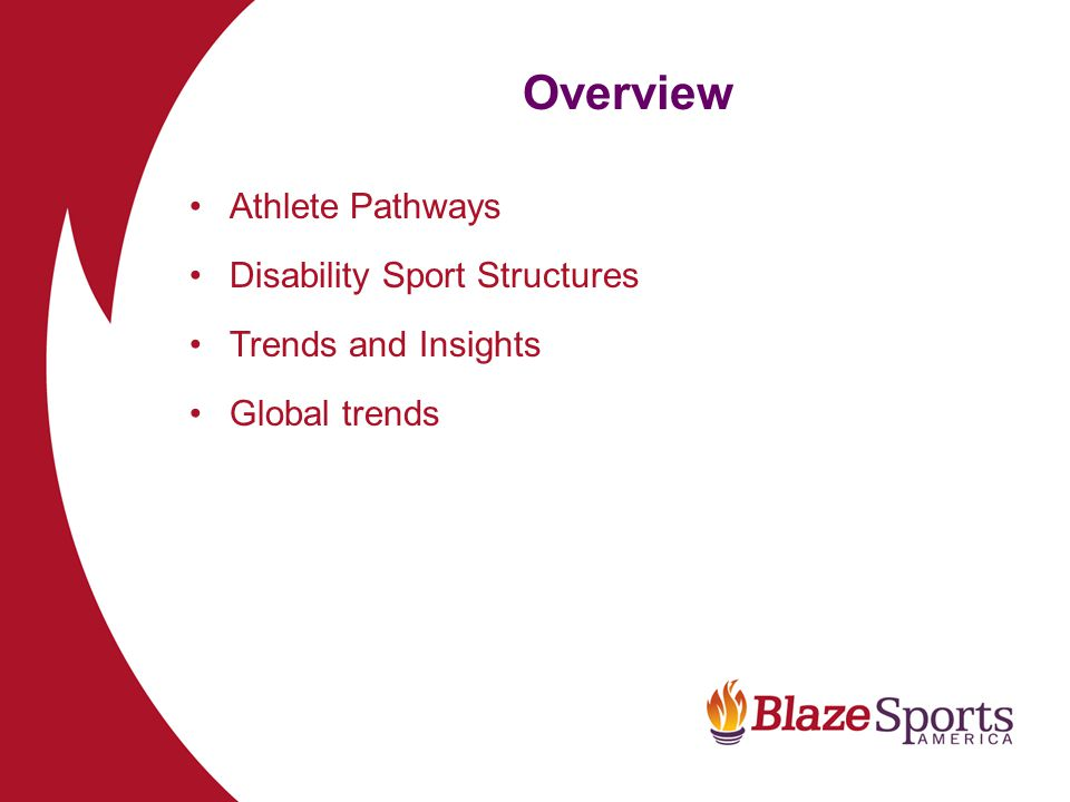 Overview Athlete Pathways Disability Sport Structures