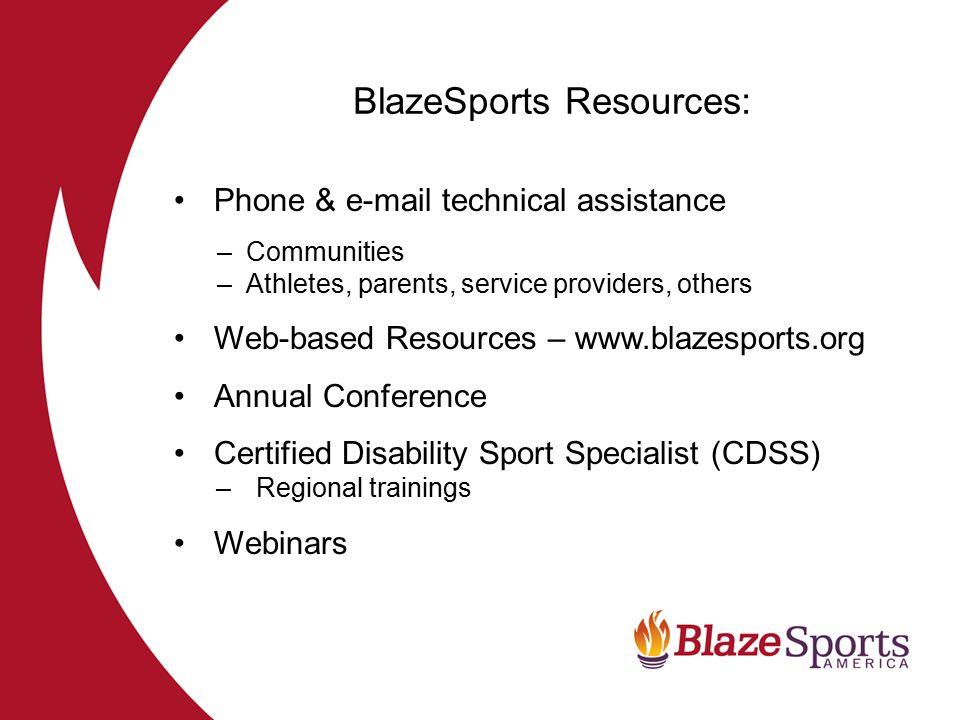 BlazeSports Resources:
