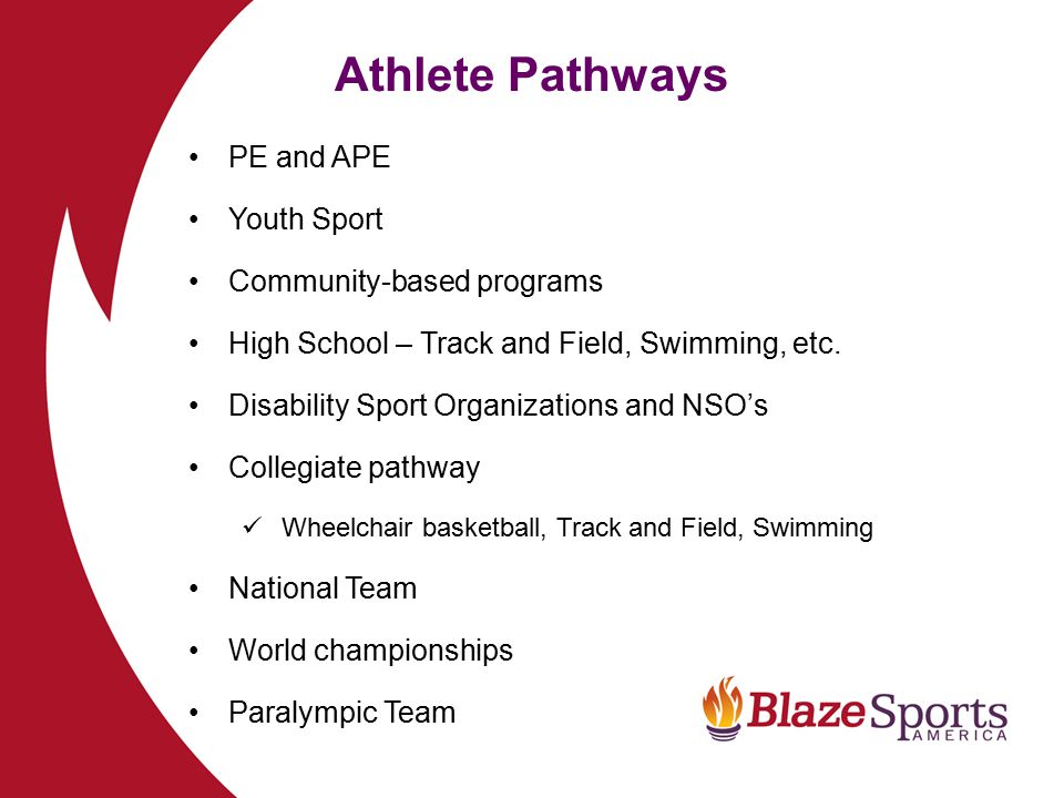 Athlete Pathways PE and APE Youth Sport Community-based programs