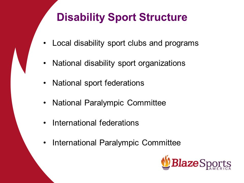 Disability Sport Structure
