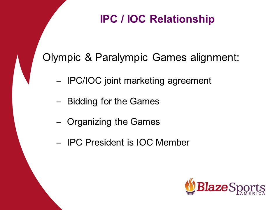 Olympic & Paralympic Games alignment: