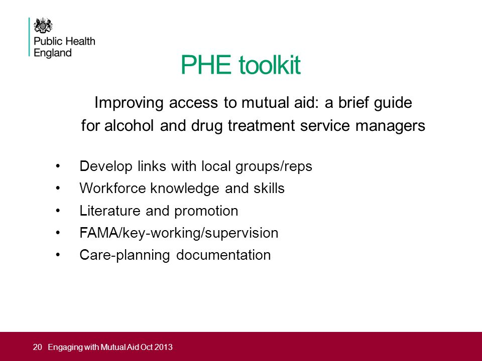 PHE toolkit Improving access to mutual aid: a brief guide