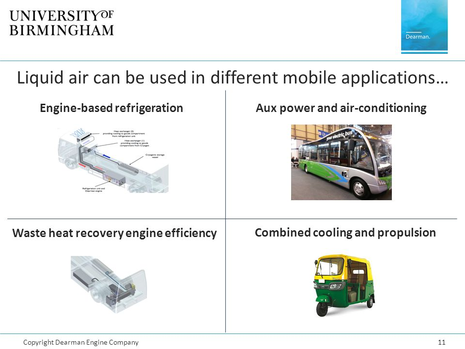 Aux power and air-conditioning Combined cooling and propulsion