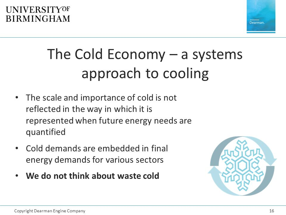 The Cold Economy – a systems approach to cooling