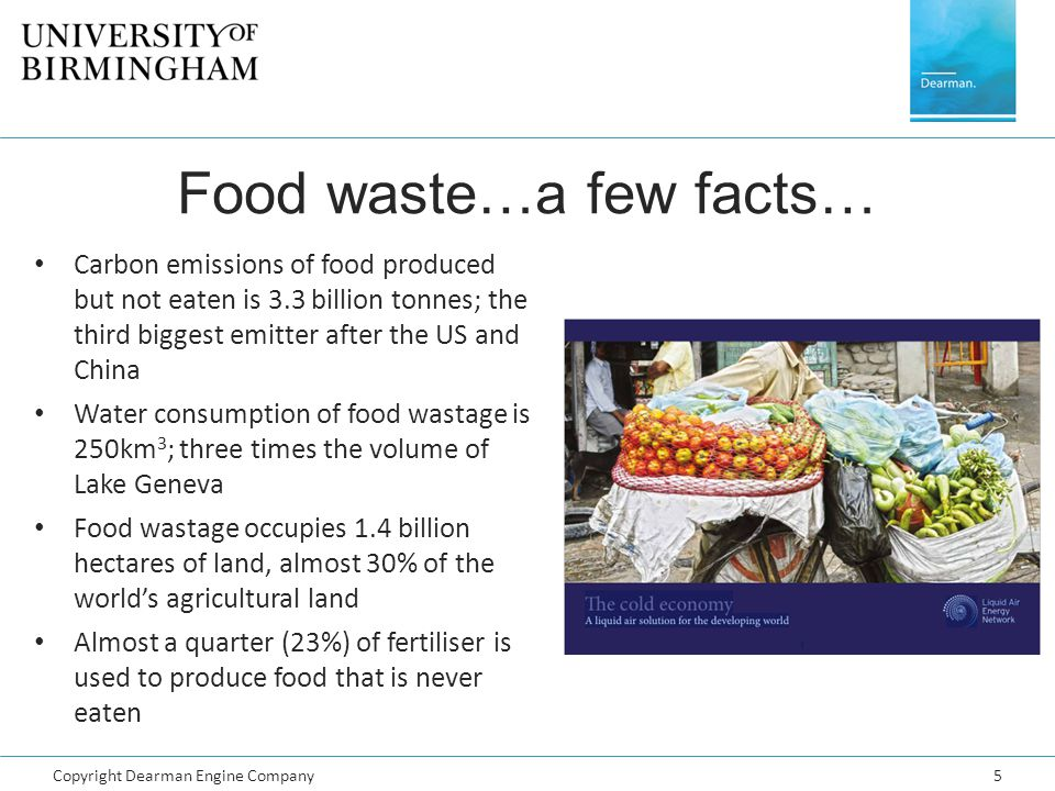 Food waste…a few facts…