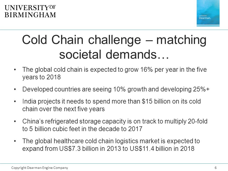Cold Chain challenge – matching societal demands…