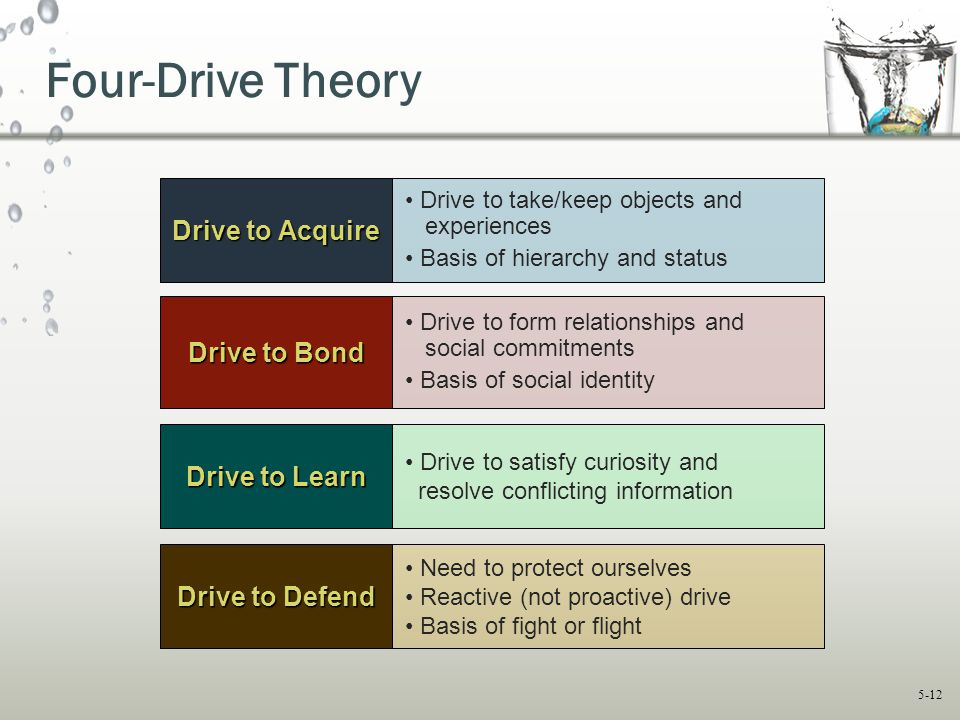 Four-Drive Theory Drive to Acquire Drive to Bond Drive to Learn