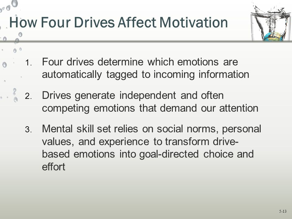 How Four Drives Affect Motivation