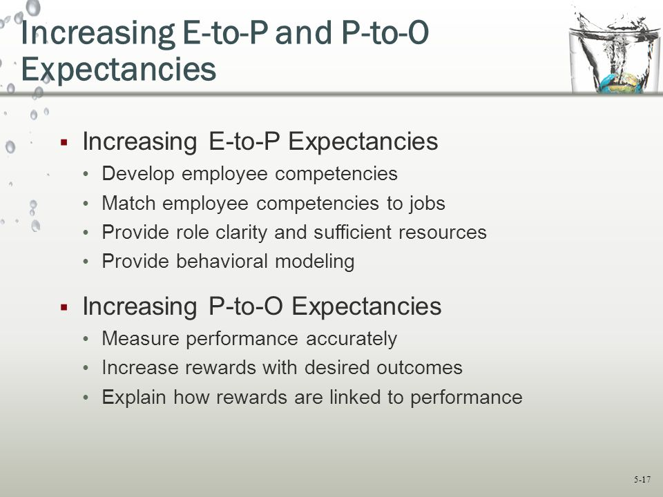Increasing E-to-P and P-to-O Expectancies