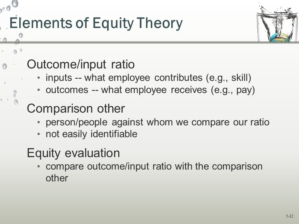Elements of Equity Theory