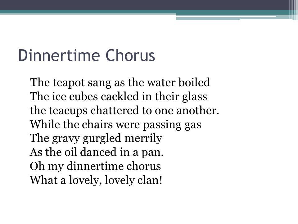 Dinnertime Chorus