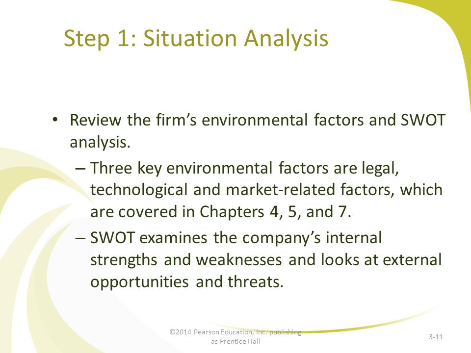 Step 1: Situation Analysis