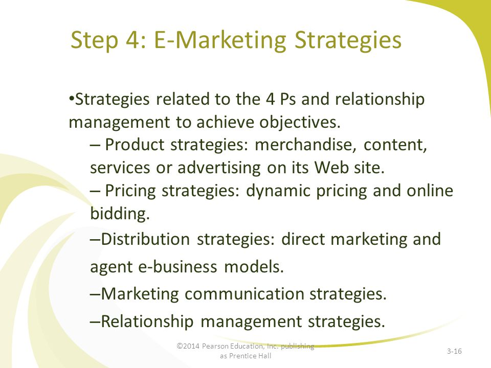 Step 4: E-Marketing Strategies