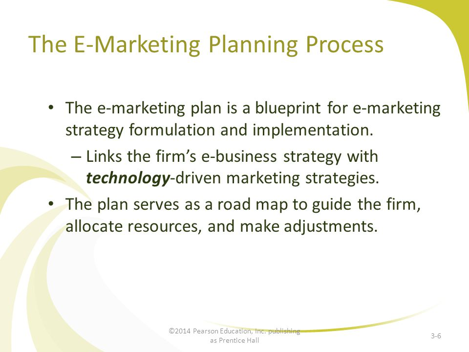 The E-Marketing Planning Process