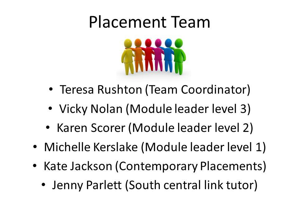Placement Team Teresa Rushton (Team Coordinator)