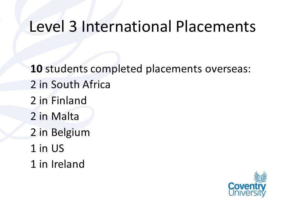 Level 3 International Placements