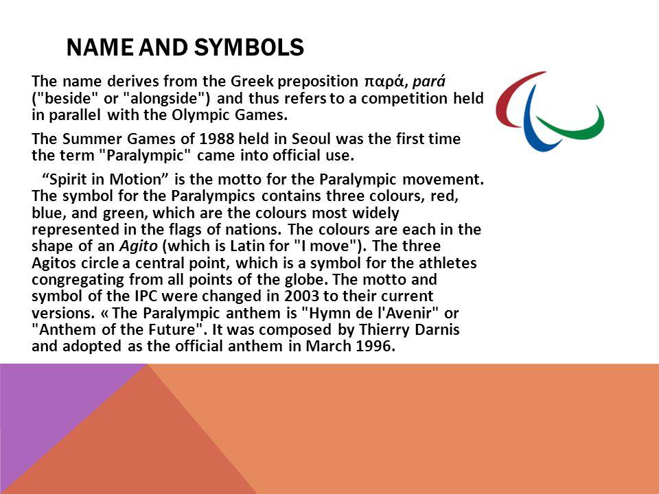 Name and symbols