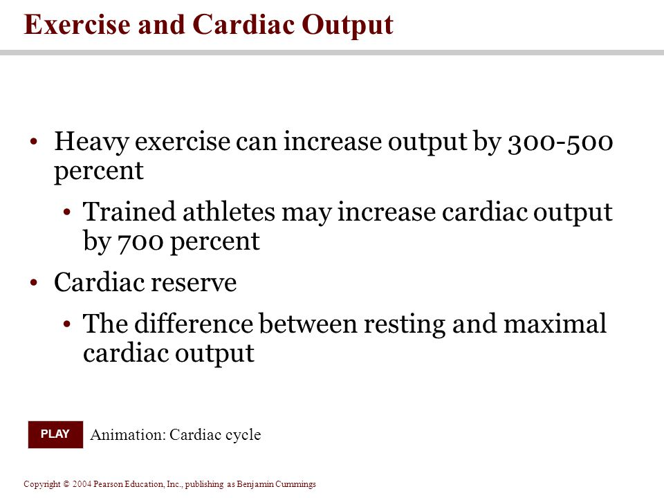 Exercise and Cardiac Output