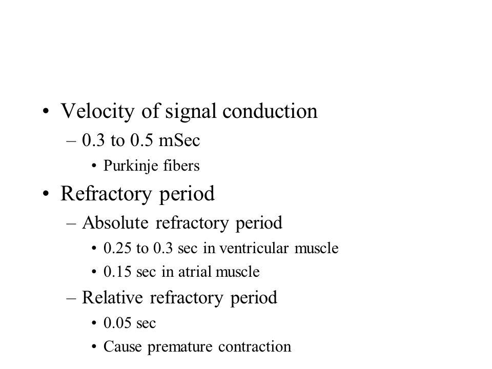 Velocity of signal conduction