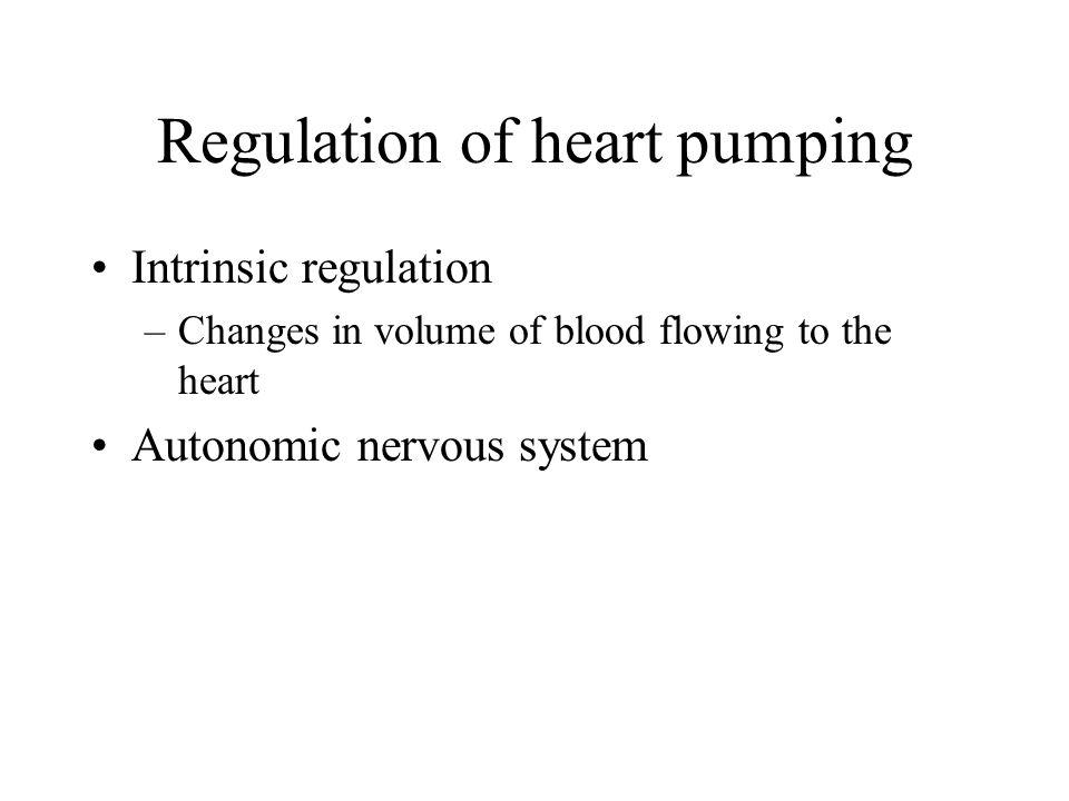 Regulation of heart pumping
