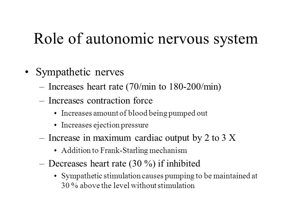 Role of autonomic nervous system