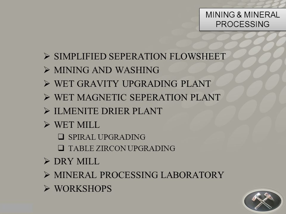 MINING & MINERAL PROCESSING
