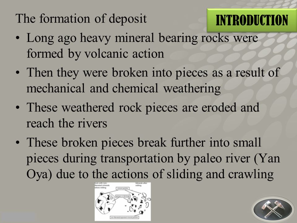 The formation of deposit