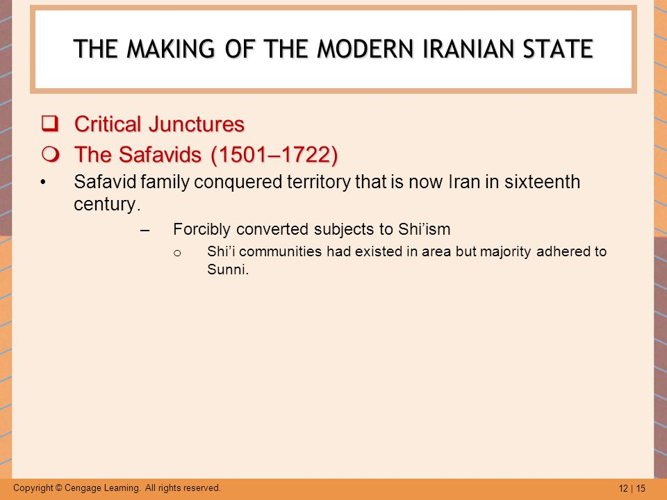 THE MAKING OF THE MODERN IRANIAN STATE